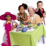 kids children tea party