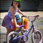 learning bicycle riding by kids